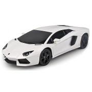 Toyhouse Officially Licensed Radio Remote Control Rastar Lamborghini Aventador LP 700-4 RC 1:24 Scale Model Car, White