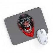 Mouse Pad A Aventura do Macaco Mau Cinza 24x20