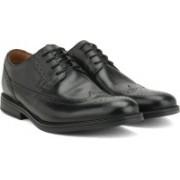 Clarks BeckfieldLimit Black Leather Lace Up For Men(Black)