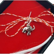 Martisor din argint 925, model Elefant, 5 x 8 mm