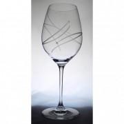 Üveg pohár swarovski dísszel bor 470ml átlátszó II (6db/csom)
