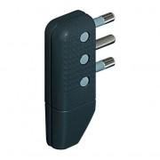 L.S.C. Isolanti Elettrici Spina Rete Piatta Tripolare 16a Nera