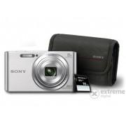 Aparat foto SONY DSC-W830, argintiu + 16GB SD + toc Sony tok