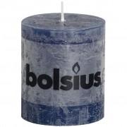 Bolsius Stompkaars rustiek 8x7 cm donker blauw