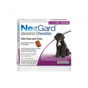 Nexgard Chewables For Large Dogs 24.1-60 Lbs (Purple) 68mg 6 Chews