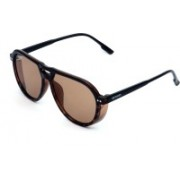 Xenops Aviator, Clubmaster, Oval, Over-sized, Retro Square, Round, Spectacle , Wayfarer, Wrap-around Sunglasses(Brown, Clear)