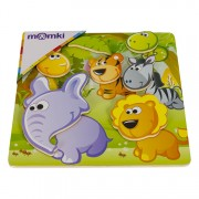 Puzzle 3D magnetic - Animale salbatice, 6 piese