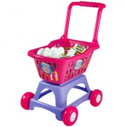 Learning Journey Shop and Go Shopping Cart with 24 Pcs play food items