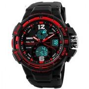 Skmei Marks-1148-Red Sports Analog-Digital Watch - For Men-Boys