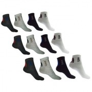 12 Pairs of Cotton Unisex Sports Ankle Socks for Men Women