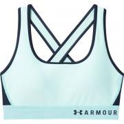 Under Armour Mid Crossback Bra (Cup B) - reggiseno sportivo medio impatto - Light Blue