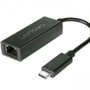 Мрежови адаптер Lenovo USB-C to Ethernet Adapter, от USB Type C(м) към RJ-45(ж), 4X90S91831