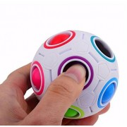 URToys 3D Intelligence Games Spherical Magic Cube Toys Boys Girls Novelty Rainbow Football Puzzle Cubes Learning Educational Toys Gifts For Children Kids Adults
