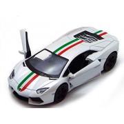 Kinsmart Licensed 5'' Lamborghini Aventador LP 700-4 Die Cast Car (White) - Toyville
