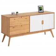 IDIMEX Anrichte TIVOLI 2 Türen 2 Schubladen skandinavisches Design, gebeizt/weiß