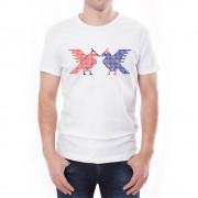 Tricou Bărbați Simbol Dragobete Învie Tradiția alb/negru