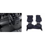 Covorase presuri 5D din piele Dacia Logan 2013-2020 Lux Tip Tavita dedicate Negru+Bej