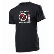 Tricou personalizat negru model Drink Alcohol