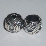 Fair Isle Silver Bead