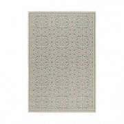 World Menagerie Gilmore Cream/Aqua Rug World Menagerie Rug Size: Rectangle 160 x 230cm - Size: Rectangle 160 x 230cm