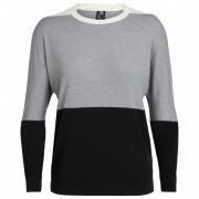 Icebreaker - Women's Momentum L/S Crewe - Pull mérinos taille S, gris/noir