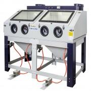 SOGI Sabbiatrice doppia grande cabina di sabbiatura pallinatrice con doppio aspiratore SOGI S-400
