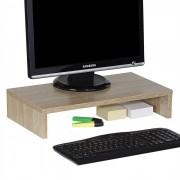 IDIMEX Support d'écran d'ordinateur MONITOR, en mélaminé décor chêne sonoma