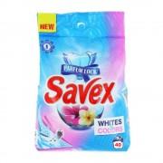 Detergent Pudra Automat de Rufe SAVEX 2 in 1 Whites&Colors, Cantitate 4 Kg, 40 Spalari, Parfum Floral, Detergent Automat pentru Haine Albe si Colorate, Detergenti Pudra pentru Haine, Solutii Curatare a Hainelor