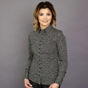 Női fekete ing Willsoor finom mintázatú mértani 8837