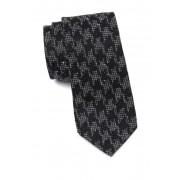Ben Sherman Kais Houndstooth Silk Tie BLACK