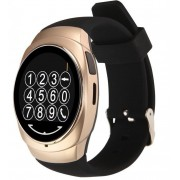 Ceas Smartwatch iUni O100, BT, LCD 1.3 Inch, Camera, Gold