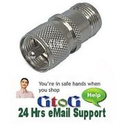 Pack 5 PL259 UHF Plug To N Female Socket