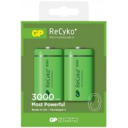 Uppladdningsbart batteri GP ReCyko C / LR14 2-pack