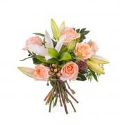 Arreglo de Rosas y Lilium - Flores a Domicilio