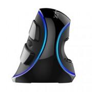 Мишка Delux M618 Plus, оптична(4000dpi), вертикална, USB, синя подсветка, черна