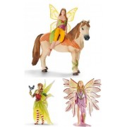 Schleich Schleich Set of Three Ice Bayala Figures: Delicate Lily Elf 70462 Iloris with Leolynn 70466 Surah with Bird 70478 Bagged Together Ready to Give