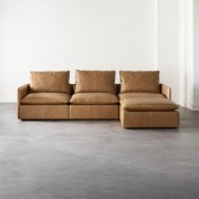 Lumin Leather 4-Piece Sectional Sofa by CB2