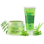 Sattvik Organics Aloe Forever Kit Deep Cleanses Rejuvenates for Smooth Radiant Skin Refreshes Skin Cells
