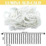 Perdea luminoasa cu 504LED, 3m x 2.4m (LxH), lumina alb-cald, DEC504LFTLWW