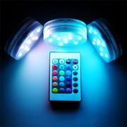 Vattentät LED-lampa med fjärrkontroll