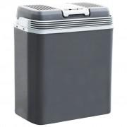 vidaXL Преносима термоелектрическа хладилна кутия 24 л 12 V 230 V A+++