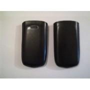 Черен калъф от естествена кожа за Nokia C5-03
