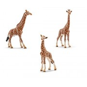 Schleich Giraffe Family Toy Figures Set - Male, Female, and Calf Figurines by SuePerior Living