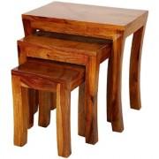 Santosha Decor Pre- Assemble Nesting Table - Indian Sheesham Wood (Set Of 3)