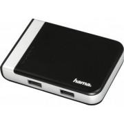Cititor card Hama cu Hub USB 3.1 3 porturi USB adaptor USB-C Negru