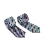 Magnetie Stripe Reversible Necktie Lavender/Blue REV-BAS-LA-BL