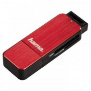 Card reader Hama 123902 USB 3.0 SD / microSD Red