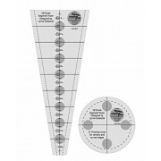 Creative Grids 18 Degree Wedge and Circle Segment for Dresden Plate Patterns - Set of Two Quilting Ruler Templates CGR18CF