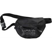 Alpha Cargo Oxford Bolsa de cintura Negro un tamaño