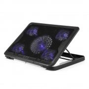 NCP88 Cooling Pad voor 15.6 inch Laptop met Vijf Fans Verstelbare Stand 2800 RPM 20dBm Geluidsarm